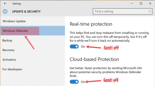 Cara Mematikan Windows Defender Windows 7,8 dan 10