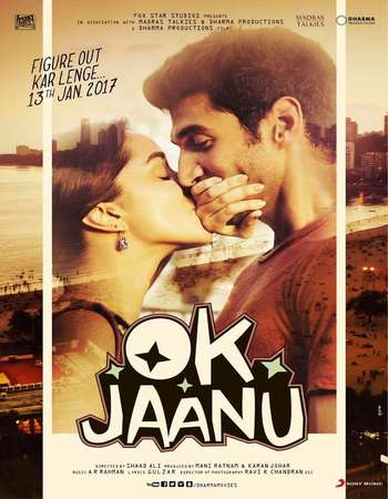 Poster Of OK Jaanu 2017 Hindi 720p BluRay ESubs Watch Online Free Download downloadhub.in
