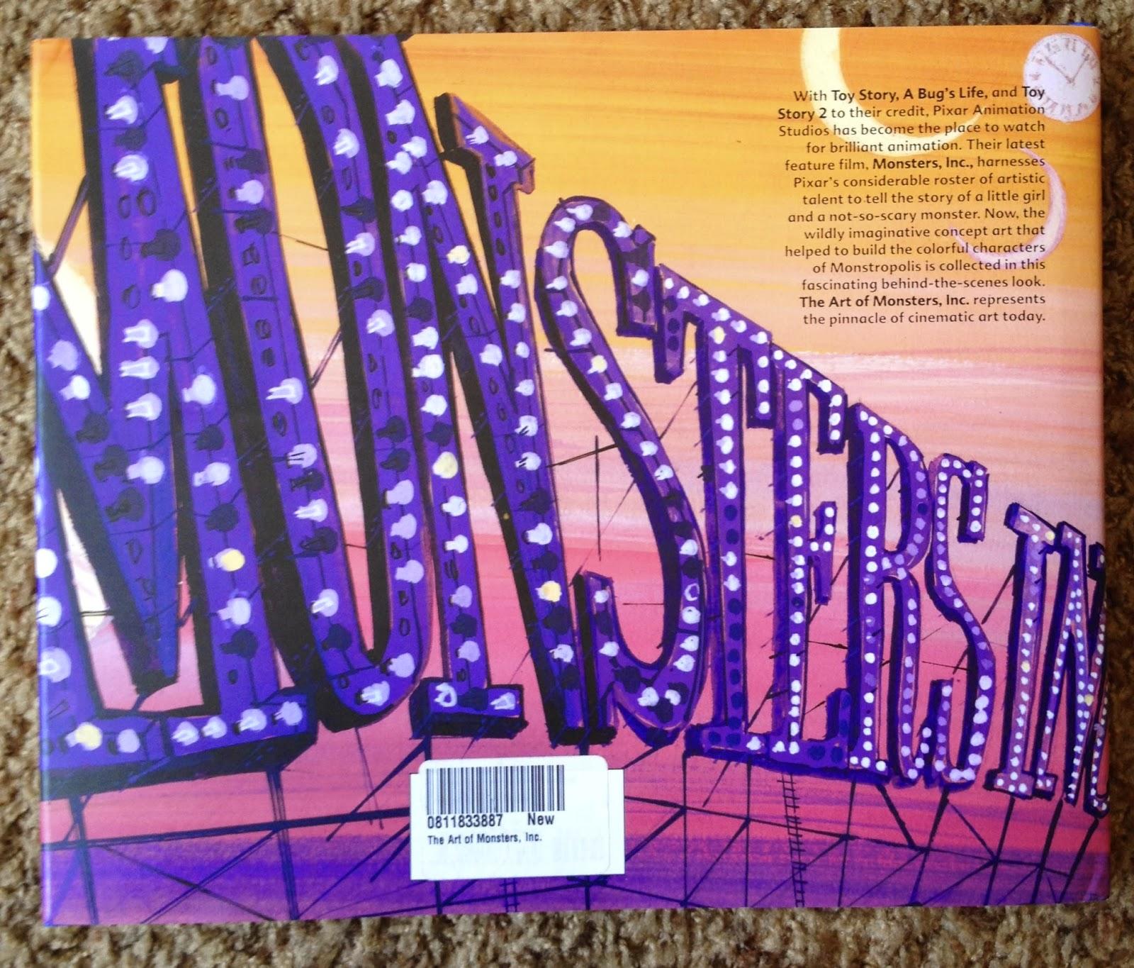 Dan The Pixar Fan: Monsters Inc: The Art Of Book