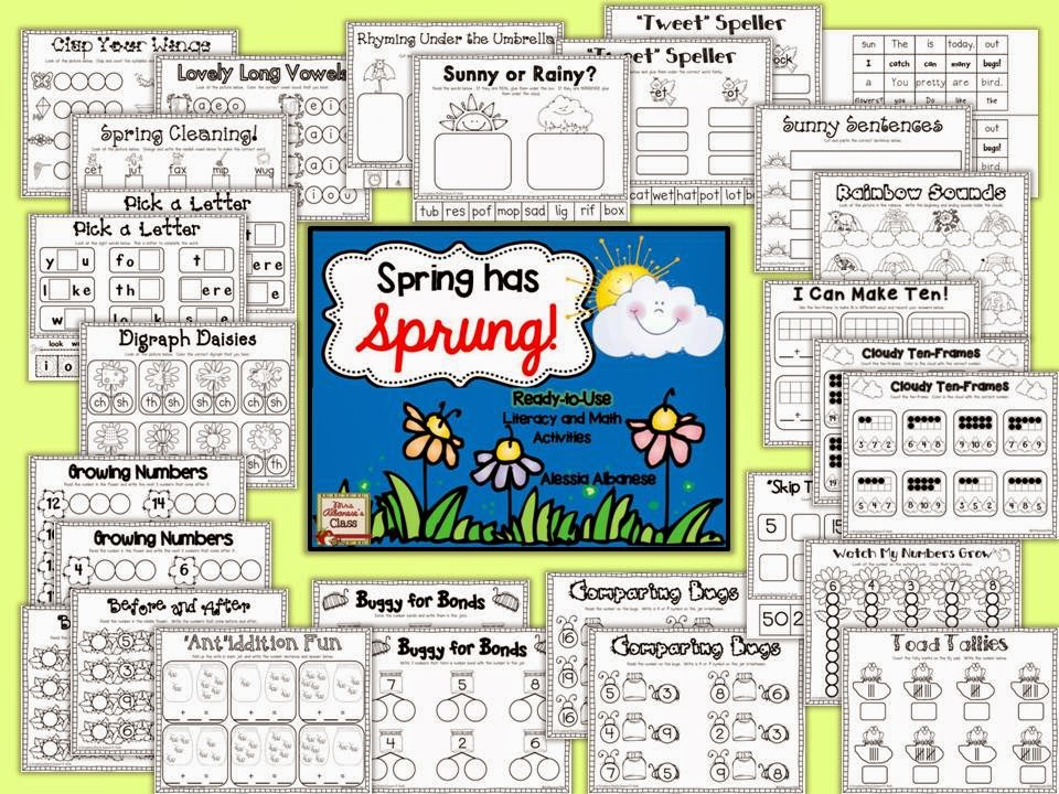 http://www.teacherspayteachers.com/Product/Spring-Has-Sprung-Ready-to-Use-Math-and-Literacy-Centers-1161100