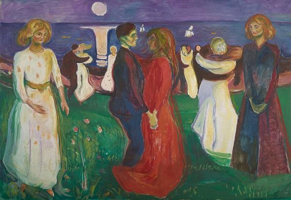 "Edvard Munch, ""The Dance of Life"", 1925 | imagenes obras de arte tristes, bellas, pinturas, cuadros, art pictures inspiration, cool stuff."