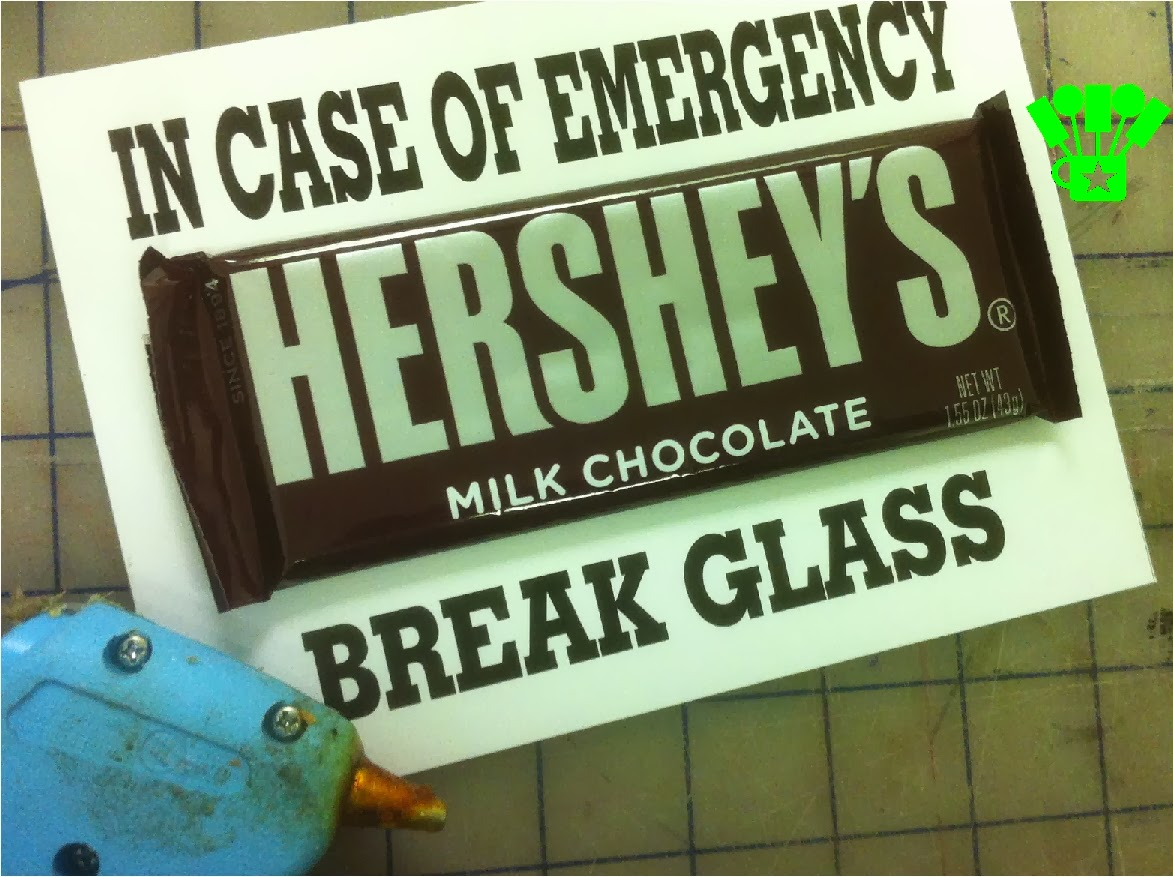 photograph regarding In Case of Emergency Break Glass Printable referred to as Do it yourself Get together Mother: Chocolate Unexpected emergency Package Printable Reward Notion