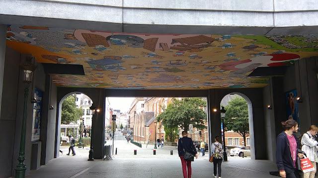 Smurf mural, Brussels