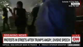 CNN Reporter Outside Trump Rally Gets Tear Gassed, Can Barely Speak (Video)