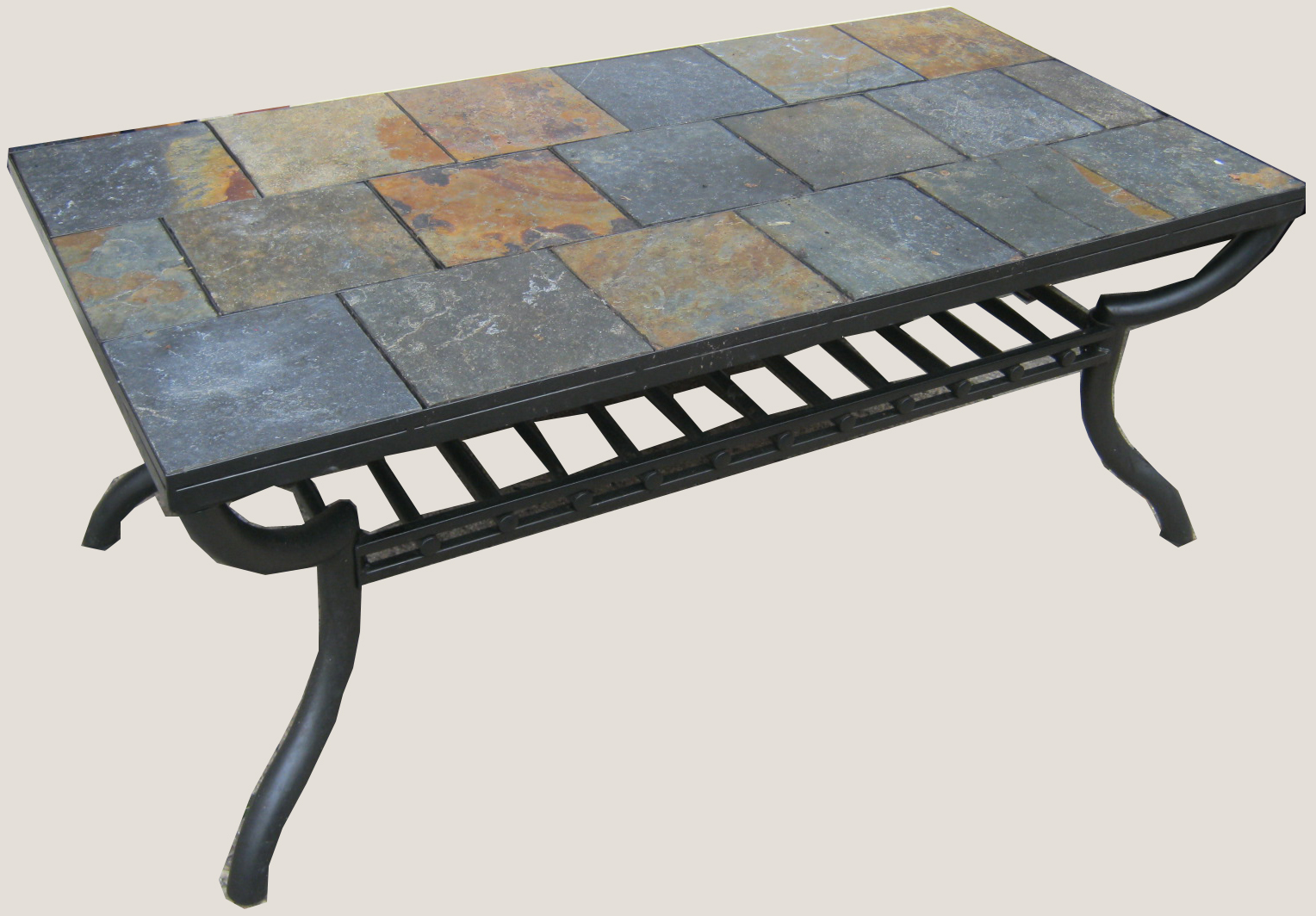Uhuru Furniture & Collectibles: Slate Tile Coffee Table SOLD