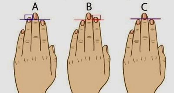 Teste dos dedos: o que eles dizem sobre você?
