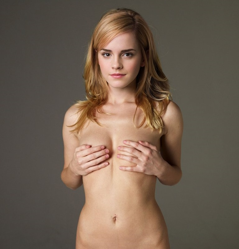 Emma Watson Hiding Boobs