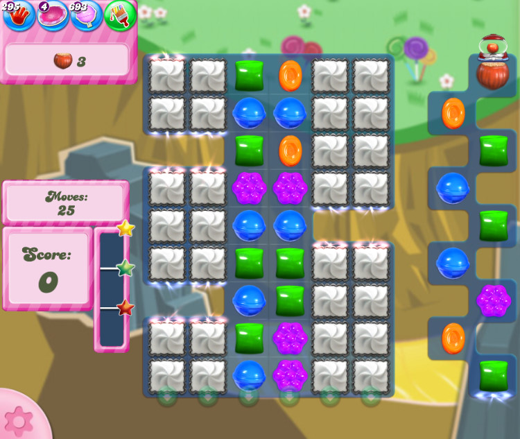 Candy Crush Saga level 2855