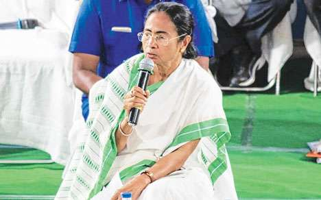 Mamata at the administrative meeting in Kalimpong