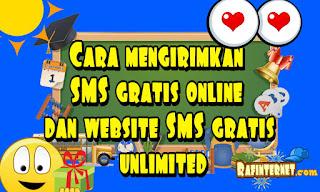 Cara mengirimkan SMS gratis online dan website SMS gratis unlimited