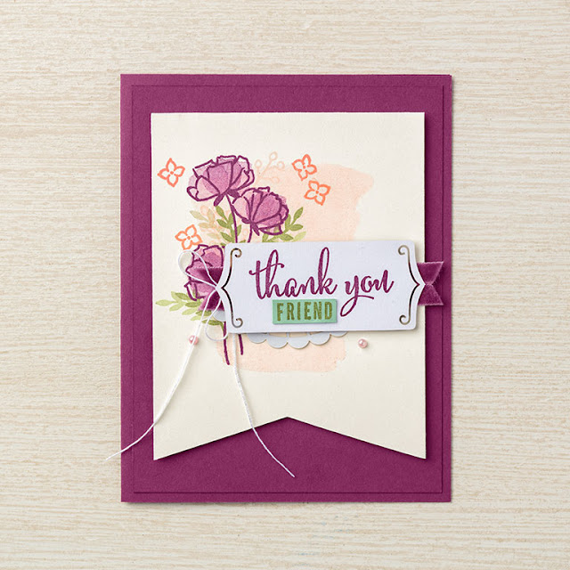 card using the a little more, please bundle from stampin' up!