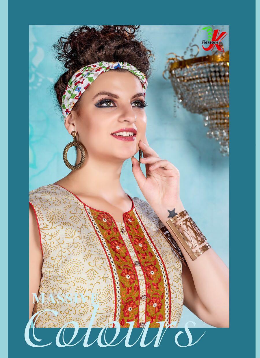 Kersom Vivanta New Arrival Kora Silk kurtis collections Only 399