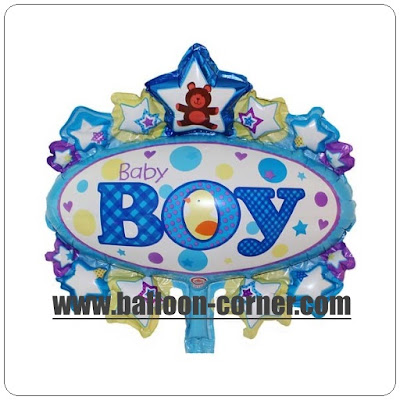Balon Foil Oval Baby Boy Mini