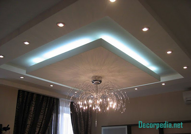 pop design, pop false ceiling design ideas for living room and hall 2019, suspended ceiling with backlight