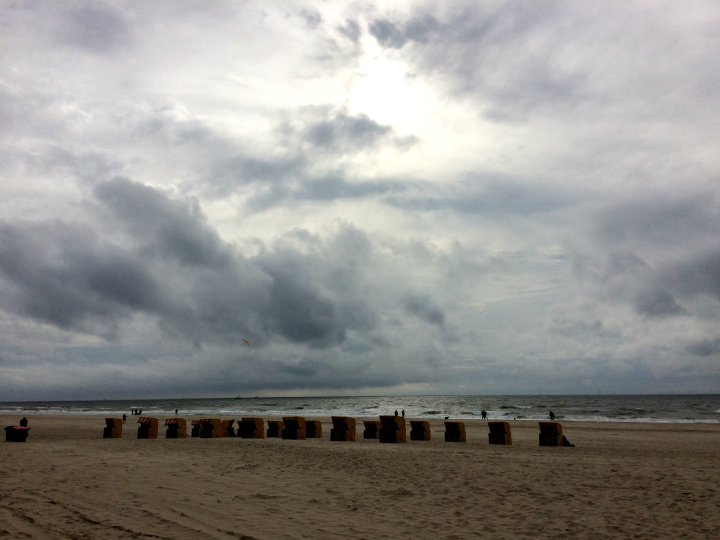 Stormy Day at the Northern Sea in Egmond aan Zee, Netherlands