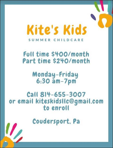SUMMER CHILDCARE, Coudersport, PA