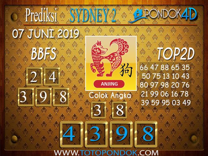 Prediksi Togel SYDNEY 2 PONDOK4D 07 JUNI 2019