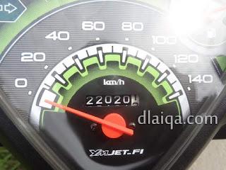 odometer di tugu perbatasan Bandar Lampung - Lampung Selatan