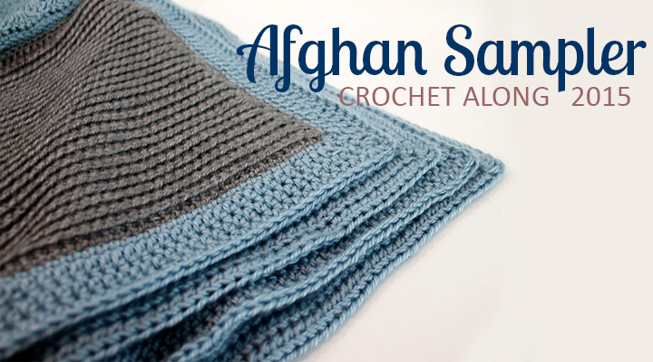 Crochet Along Afghan Sampler for 2015 from The Inspired Wren | CAL with two crochet squares per month for a complete blanket in one year