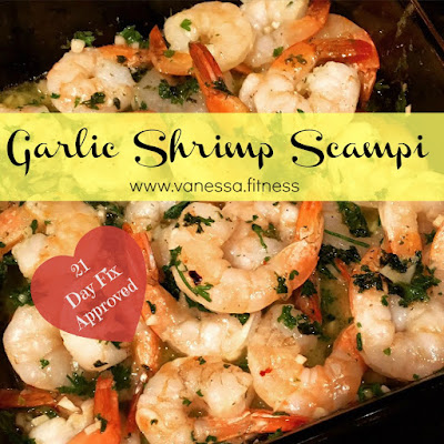 shrimp scampi, garlic, 21 Day Fix, autumn calabrese, clean eating, dairy free, gluten free