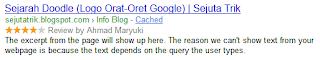 Google Breadcrumb