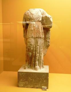 το αγαλμάτιο του Πατρώου Απόλλωνα στο Μουσείο της Αρχαίας Αγοράς των Αθηνών