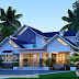 2872 sq-ft European model sloping roof home