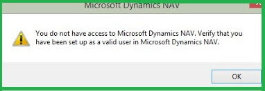Dynamics NAV RTC Open Error Message