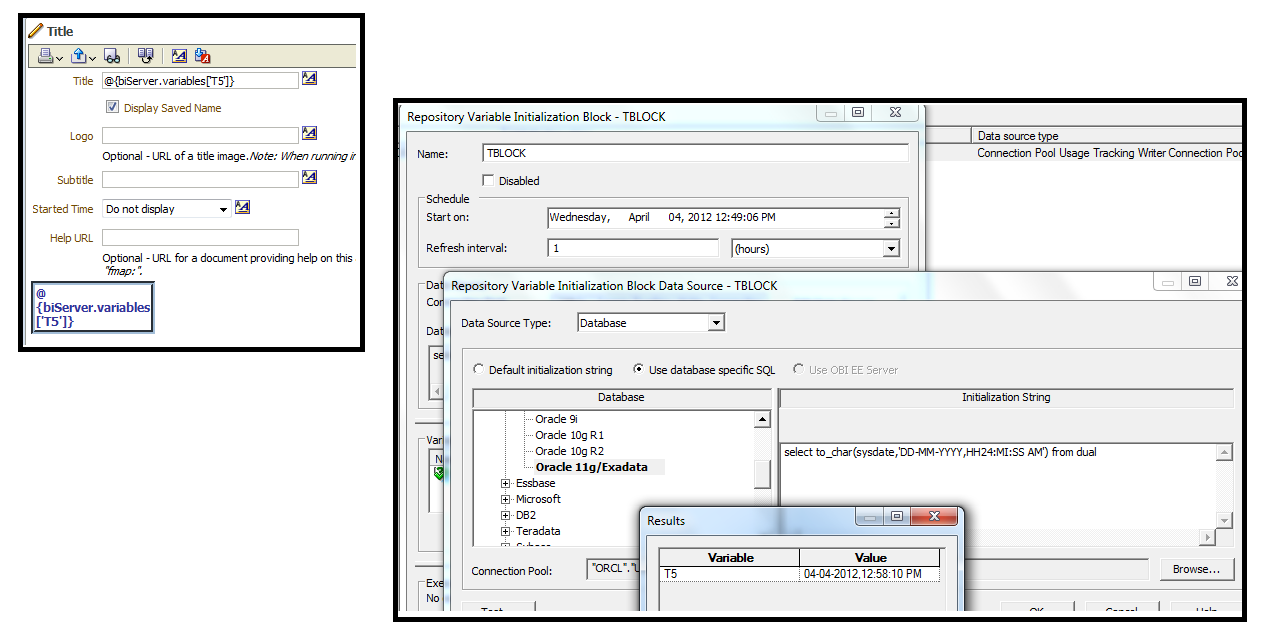 OBIEE: Bug 9715457 : DYNAMIC REPOSITORY VARIABLE DO NOT REFRESH IN
