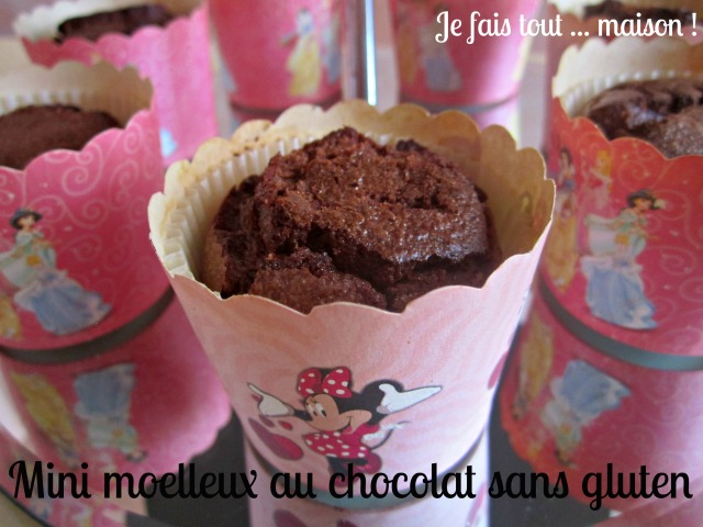Petits moelleux au chocolat sans gluten