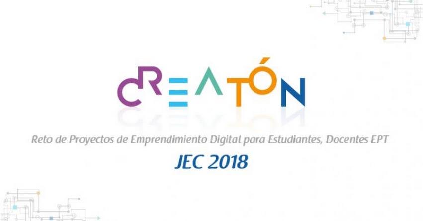 PERÚEDUCA: Extensión de envío de proyectos para la Creatón 2018 hasta el 28 de octubre - www.perueduca.pe