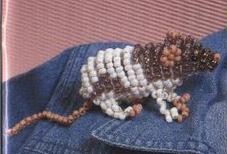 Крыса из бисера. Схема