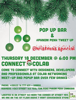 Phnom Penh Tweet Up and Pop Up bar poster