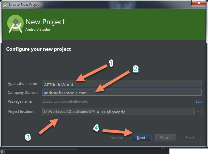 Name Project App On Android Studio
