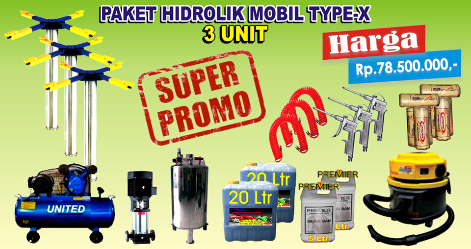Paket Hidrolik-X (3 Unit)