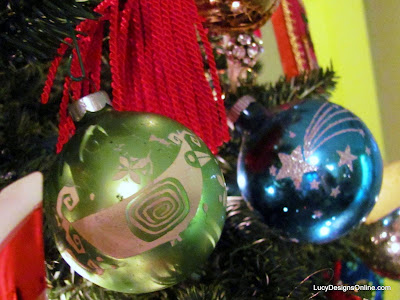 vintage glass bird ornament