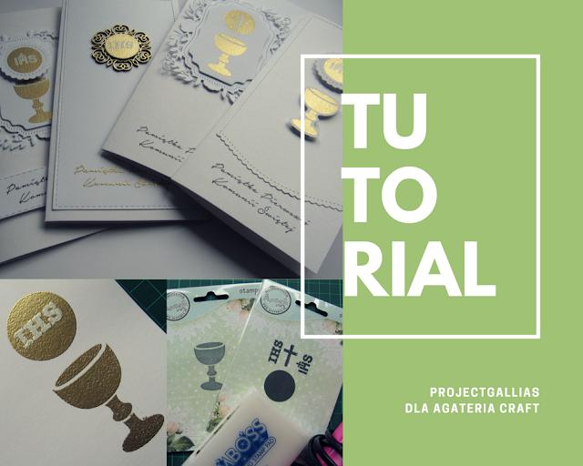 TUTORIAL dla Agateria Craft – Kartka komunijna na kilka sposobów