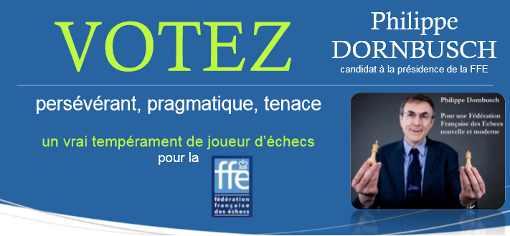 VOTEZ Philippe DORNBUSCH, le coup gagnant ! - Photo © Chess & Strategy
