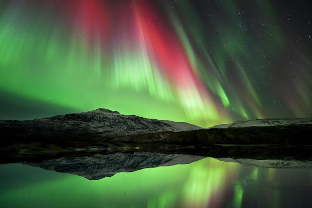 Aurora over Høgtuva