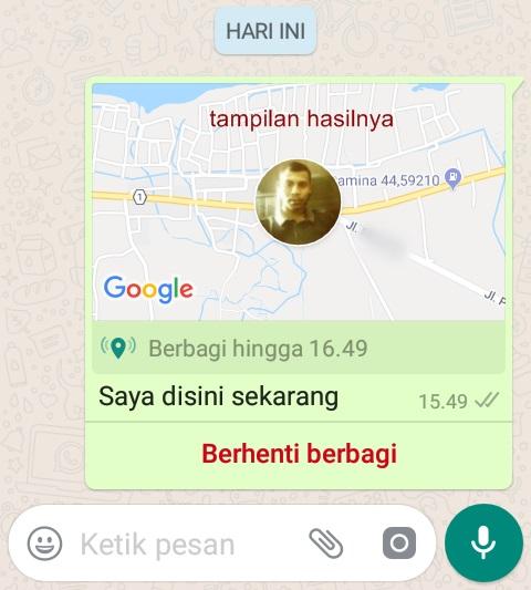 cara kirim lokasi gps whatsapp secara akurat