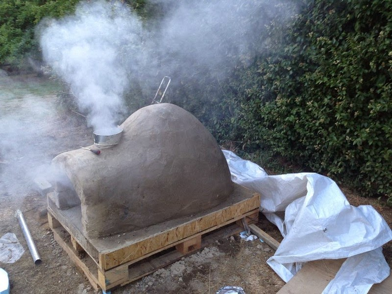 Home made pizza oven