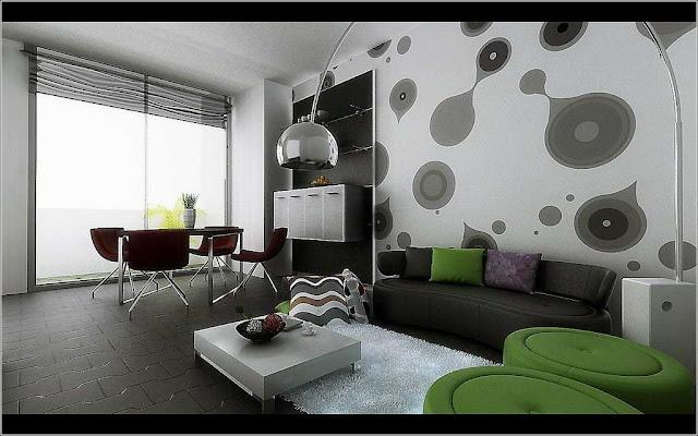 Desain Wallpaper Dinding Rumah Bermotif Abstrak