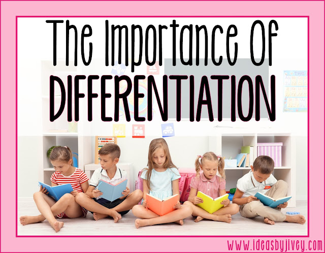 Why should you differentiate instruction in reading? And why AREN'T you differentiating reading assessments? Ideas by Jivey lays it all out for you and helps you head in the right direction!
