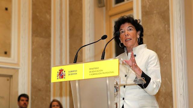 Isabel Celaá Ministra educación y FP