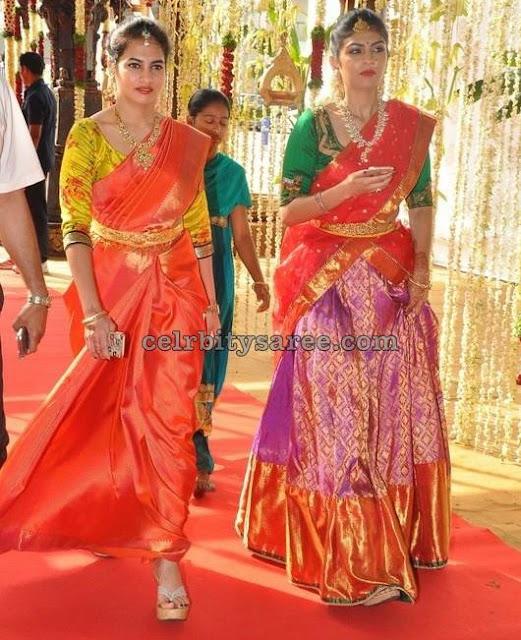 Bridal Half Saree and Silk Sari