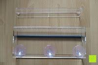 Befestigung: PEDY Großer Fenster Vogelfutterspender, Transparenter Saugfuß Durchsichtiger Vogelhaus Fenster Vogelfutterspender Großer Acryl Vogelfutterspender Vogelfutterstation