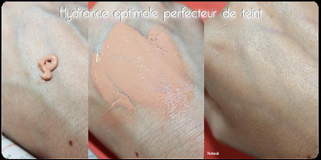 test sur le peau  de  Hydrance optimale perfecteur de teint d'Avène