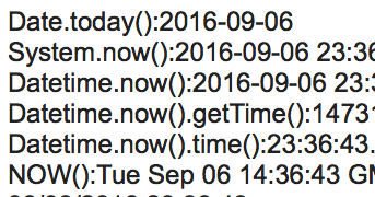 SFDC: How to get time in Salesforce?