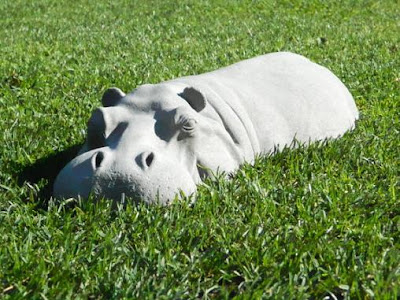 Hippo Garden Ornament