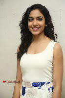 Actress Ritu Varma Stills in White Floral Short Dress at Kesava Movie Success Meet .COM 0004.JPG